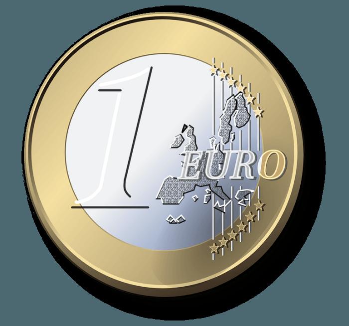kuvassa euron kolikko