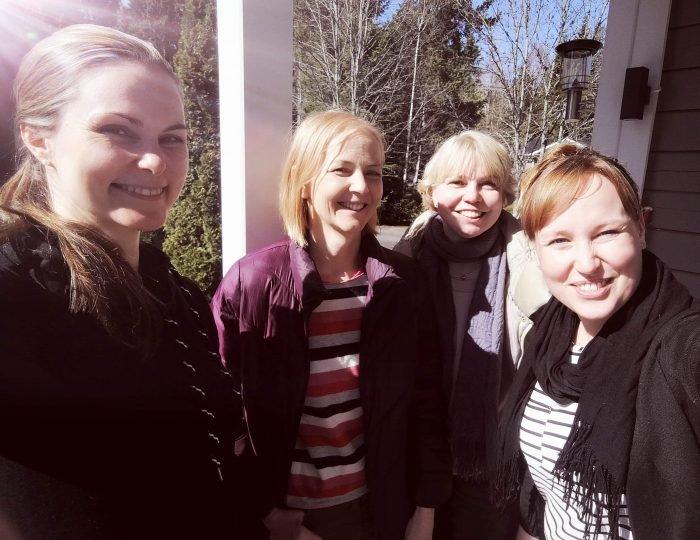 Vois-tutkimushankkeen tutkijat Elina Weiste, Camilla Lindholm, Melisa Stevanovic ja Taina Valkeapää